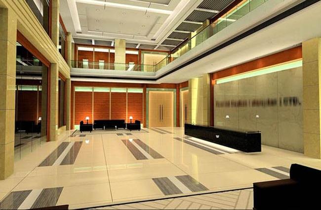 公司前台工装室内模型模板下载(图片编号:12592480)
