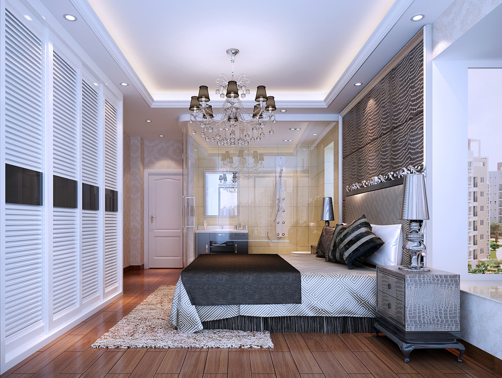 简欧式风格房间3d模型下载图片下载