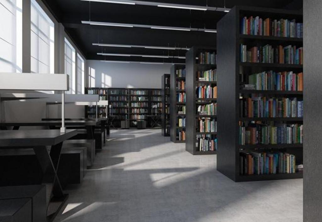图书阅览室3dmax模型 图书阅览室图片