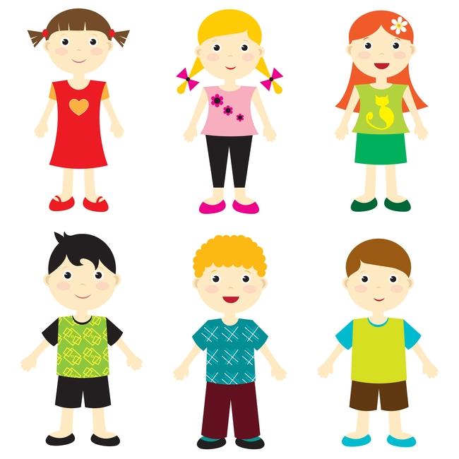儿童 卡通人物 动漫 动漫人物素材 人物素材 儿童 人 人物矢量图形