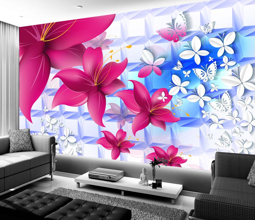 蝴蝶梦3d沙发背景墙