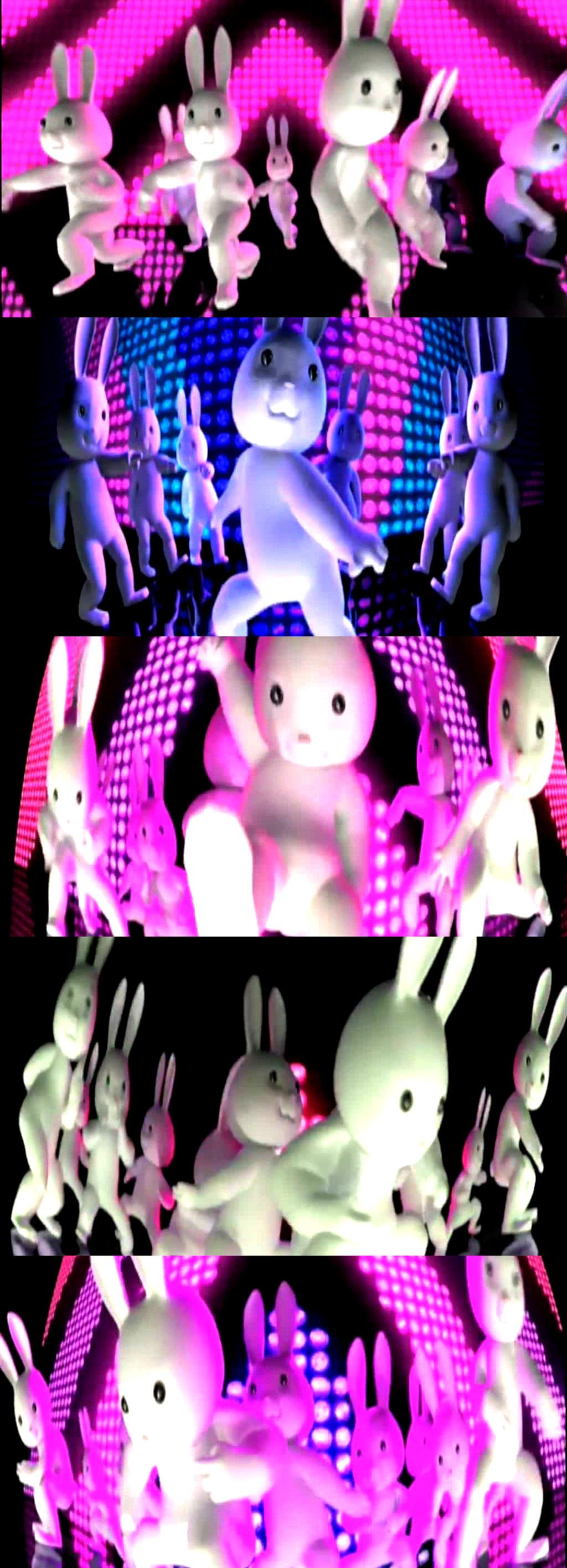 3d卡通兔子舞高清视频