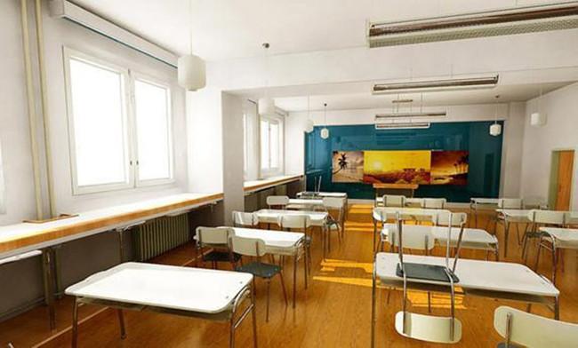 室内设计室内空间教室3d效果图