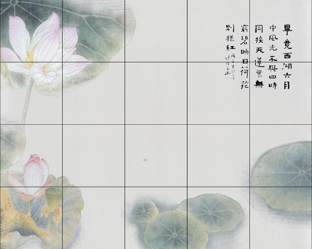 中国风手绘 西湖