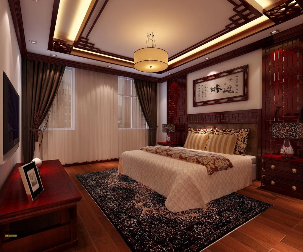 中式豪华卧室装修效果图图片