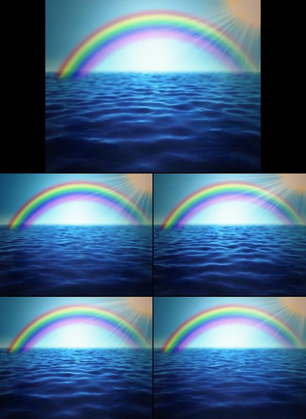 海上彩虹阳光视频
