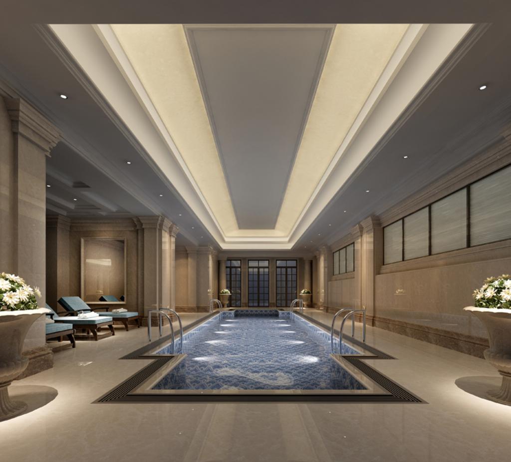 3dmax室内游泳池模型模板下载