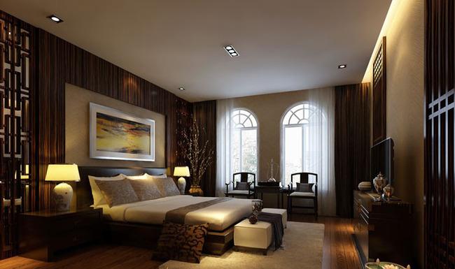 豪华中式古典风格卧室装修效果图图片下载 时尚主卧装修效果图 装修图片