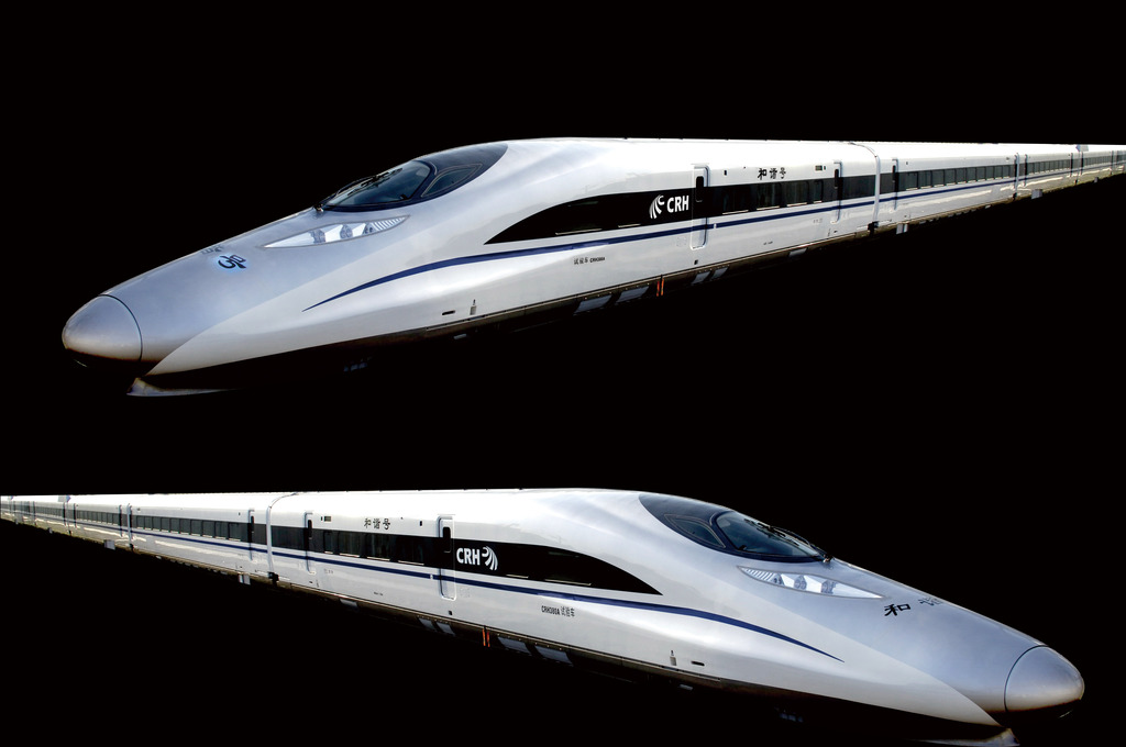 中国高铁和谐号psd分层素材