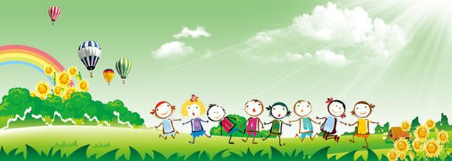 幼儿园卡通背景模板下载(图片编号:12607494)