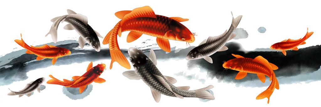 鱼的手绘唯美图