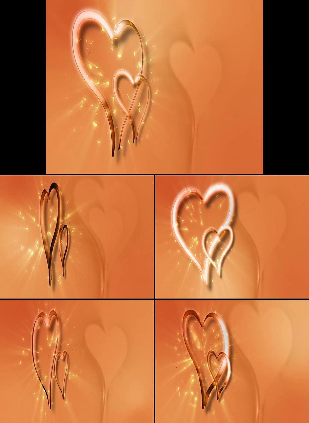 浪漫心形背景婚庆led视频
