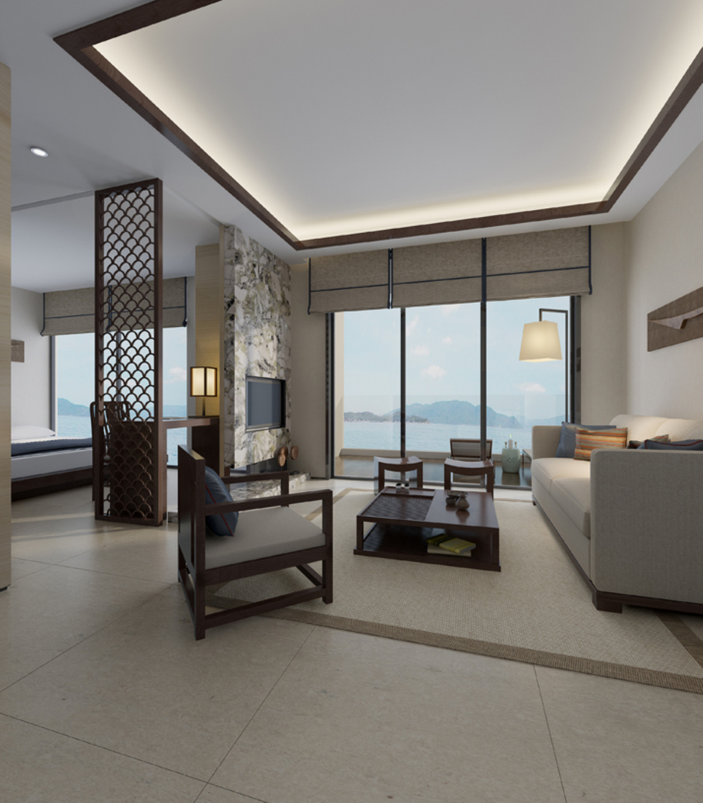 3dmax中式风格客厅模型3图片下载图片
