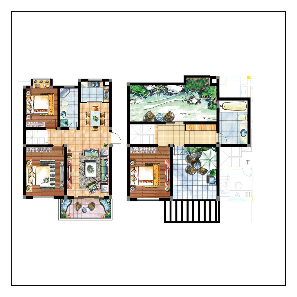 室内设计矢量常用户型图