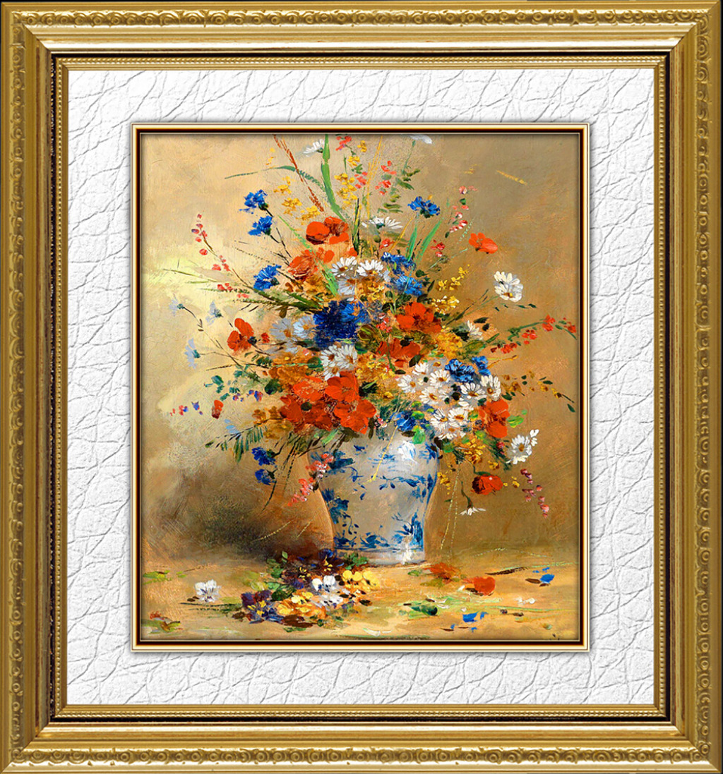 抽象花卉艺术油画图片