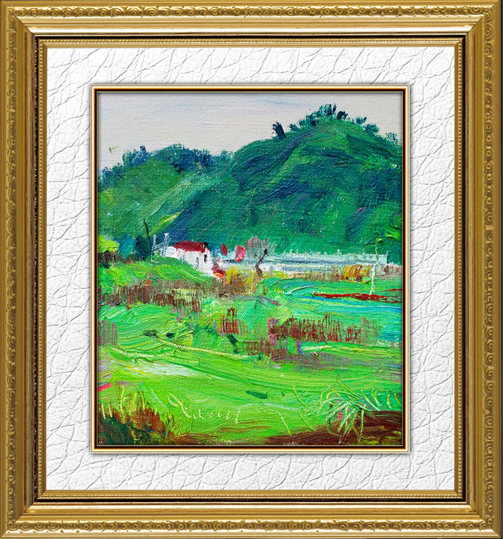 背景墙|装饰画 油画 风景油画 > 抽象山水油画风景  原创正版授权