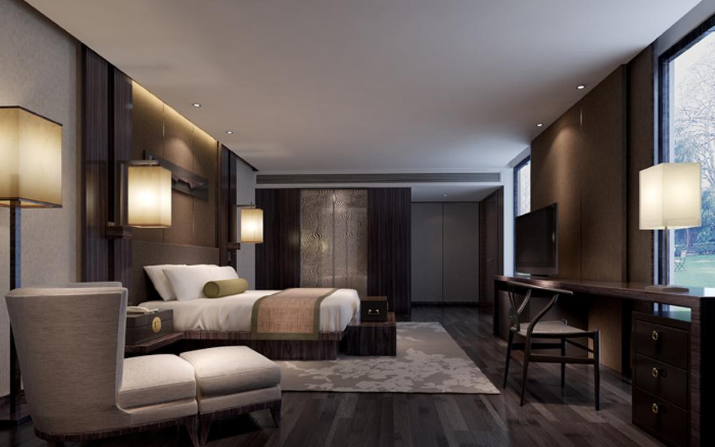 3dmax简中风格卧室模型图片下载图片