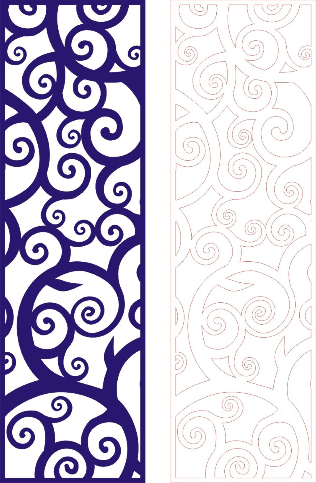 欧式镂空通花花纹雕刻图带线