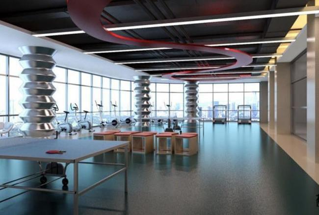 3dmax健身房效果图
