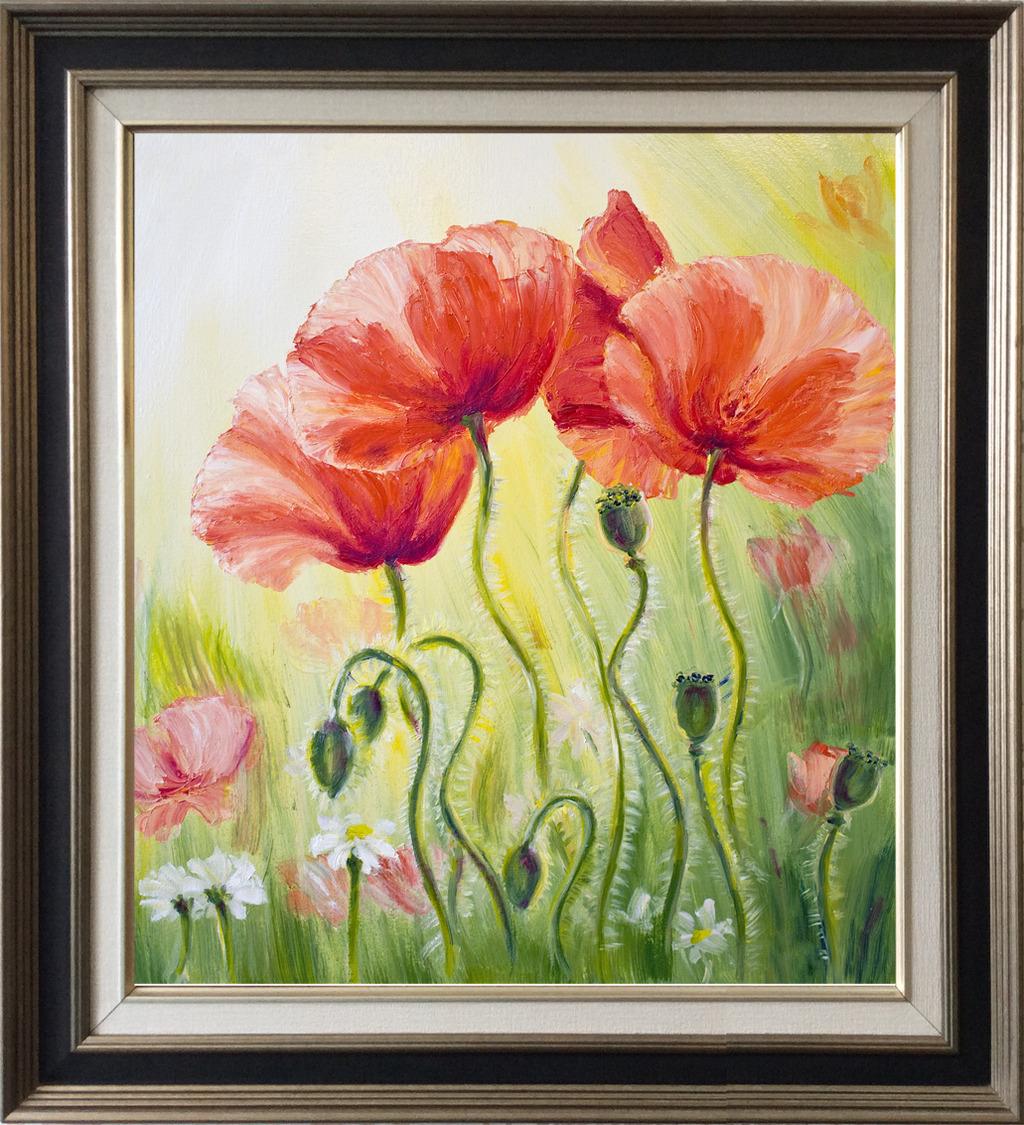 室内装饰油画花卉作品