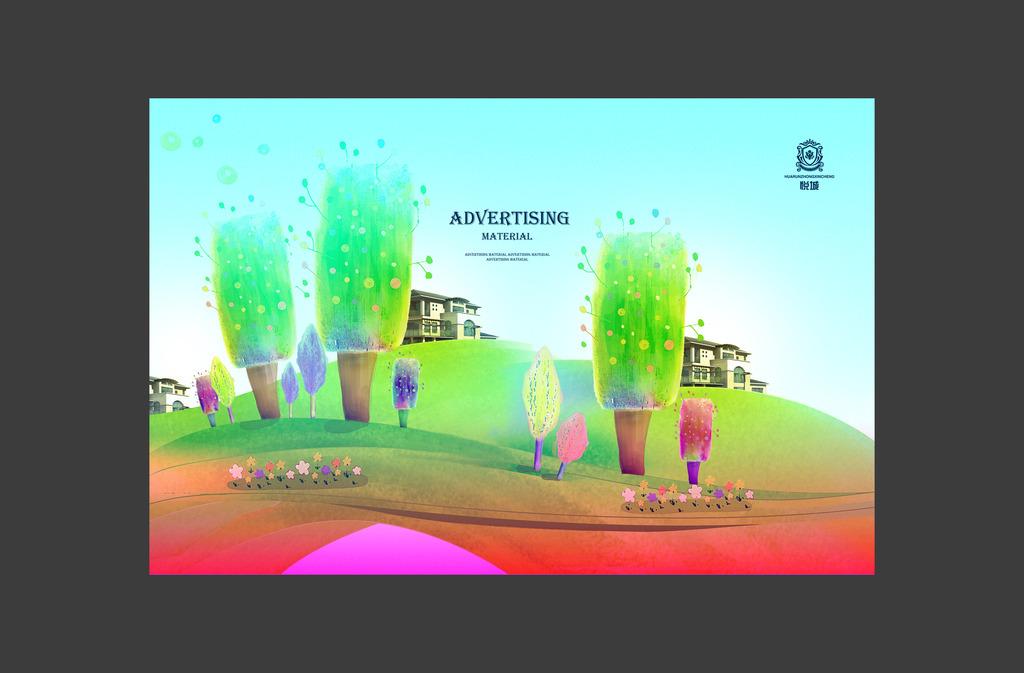 创意地产手绘设计模板下载(图片编号:12627826)_海报