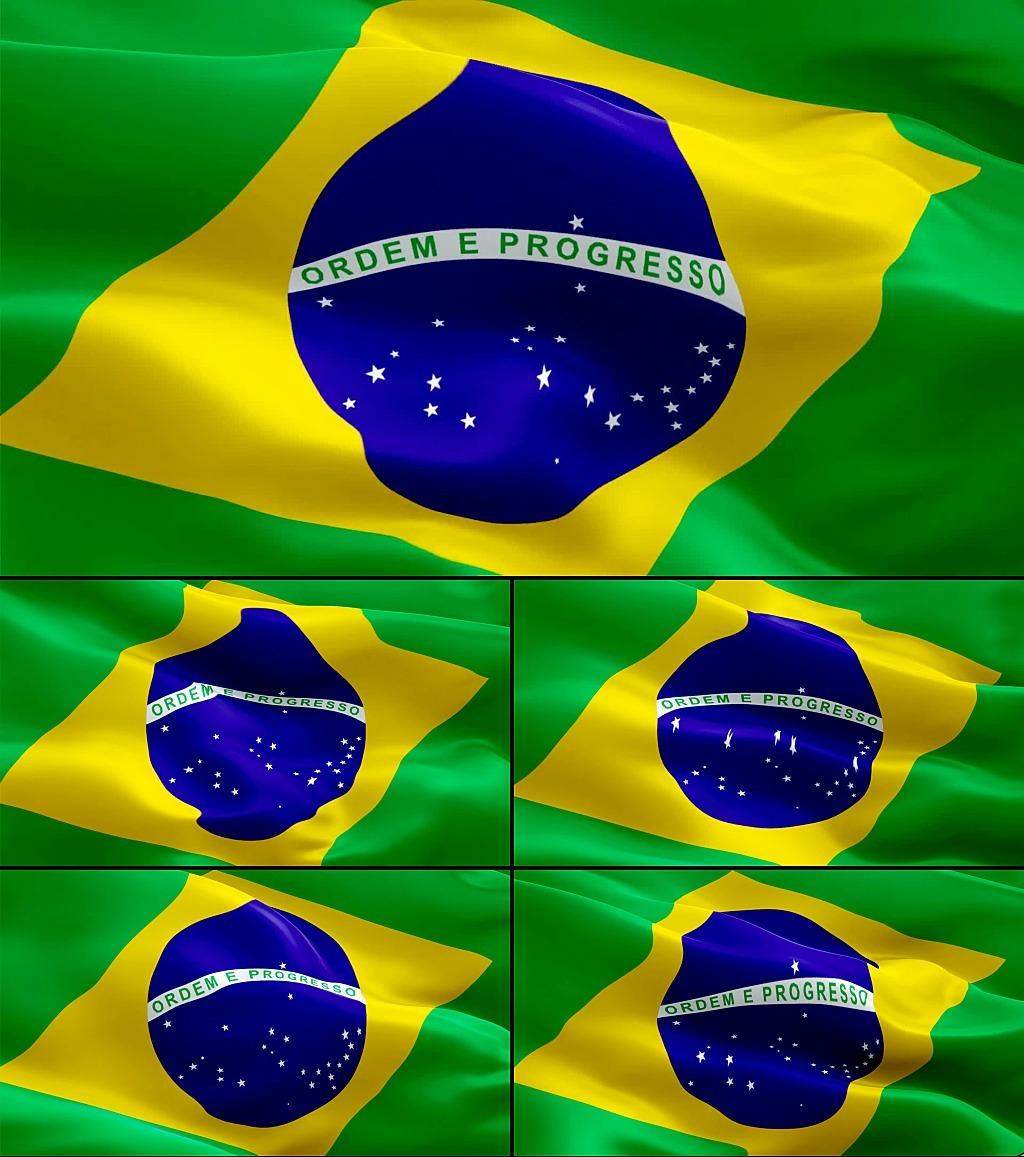 飘扬的巴西国旗