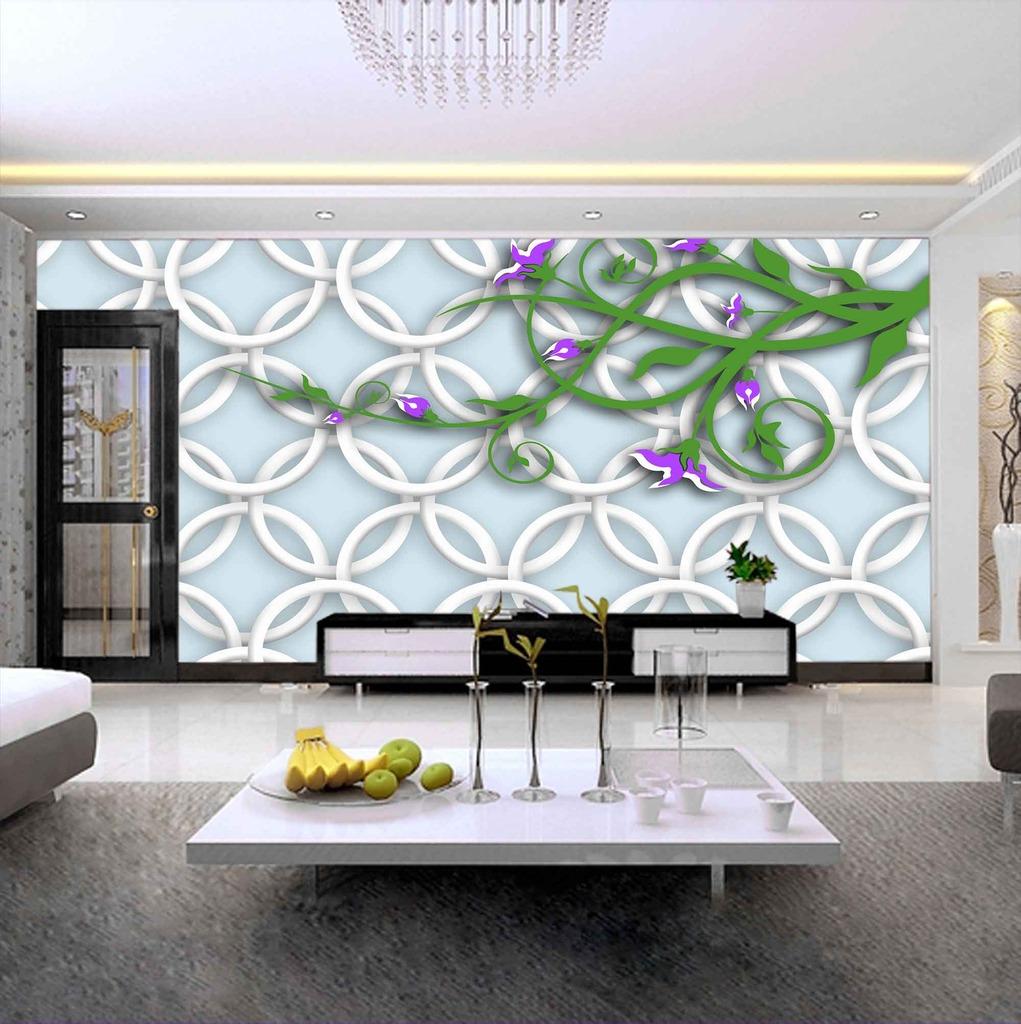 3d立体三维光圈欧式壁画背景墙psd素材