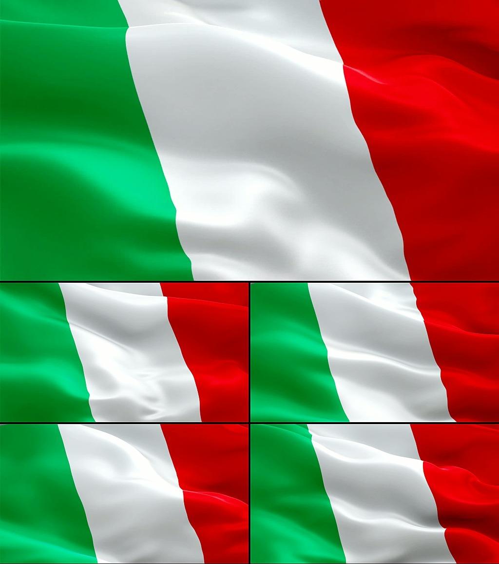 飘扬的意大利国旗模板下载(图片编号:12631017)_动态
