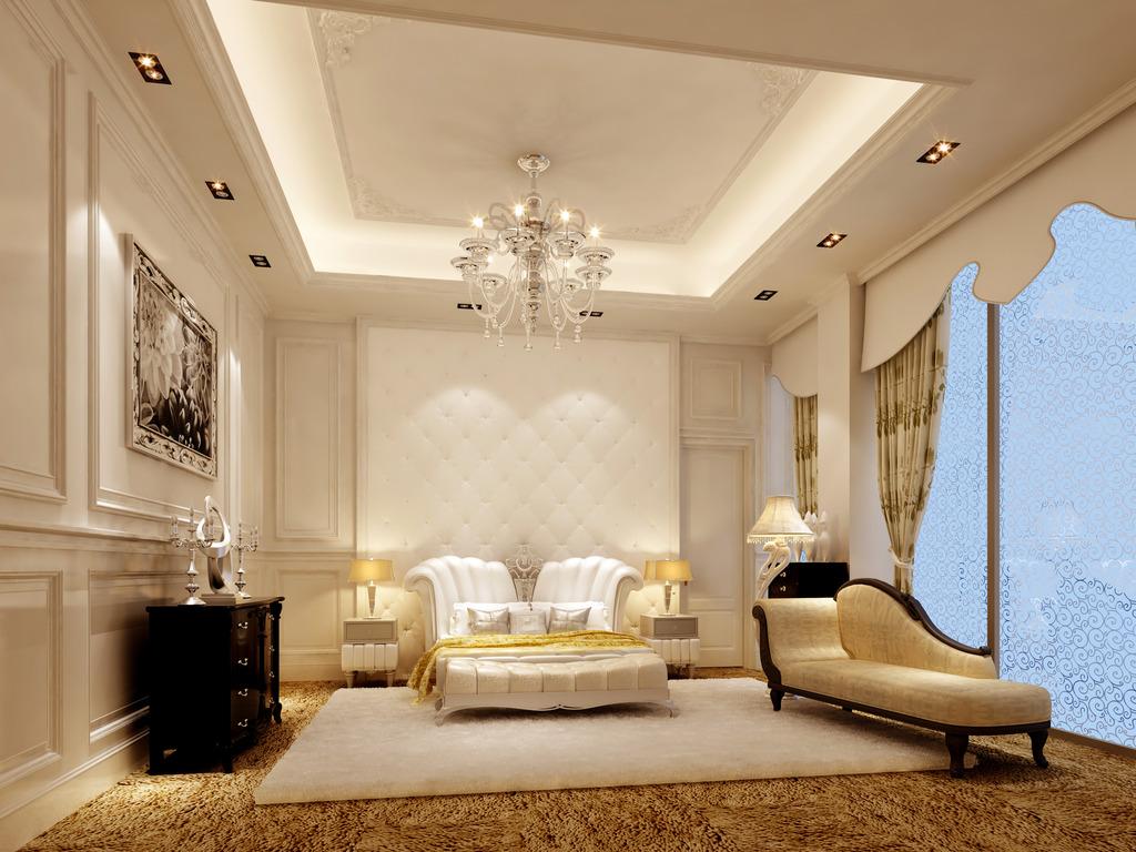 欧式简装客厅3d模型模板模板下载