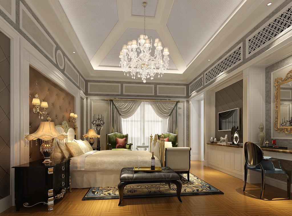 欧式豪华酒店设计3d客房