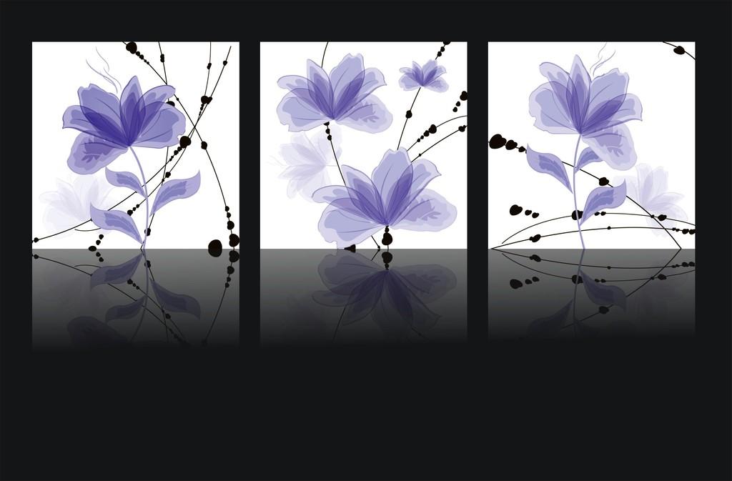 抽象花卉装饰画