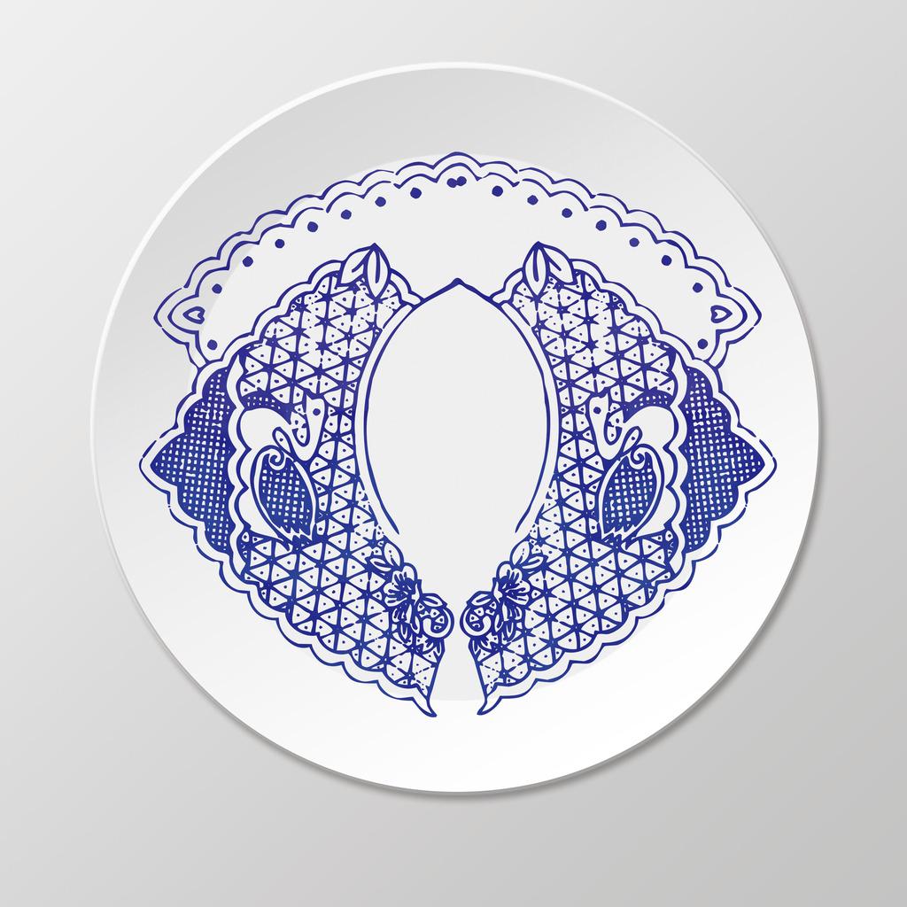 青花瓷盘子设计素材下载