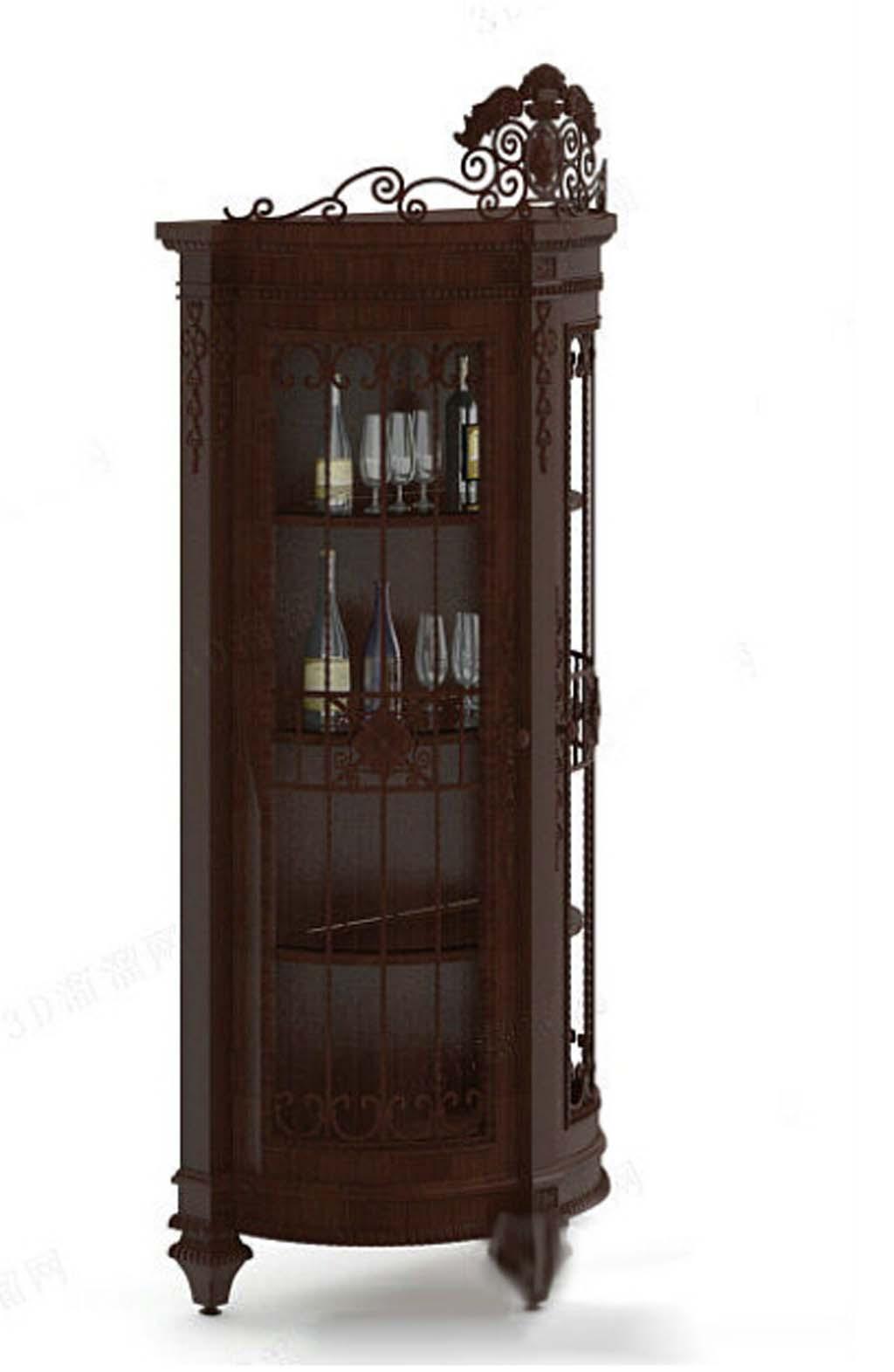 欧式酒架模型cad模型柜子3d模型家具
