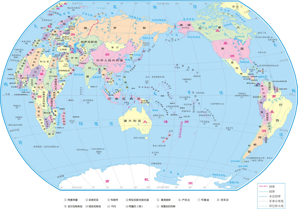 矢量世界地图cdr