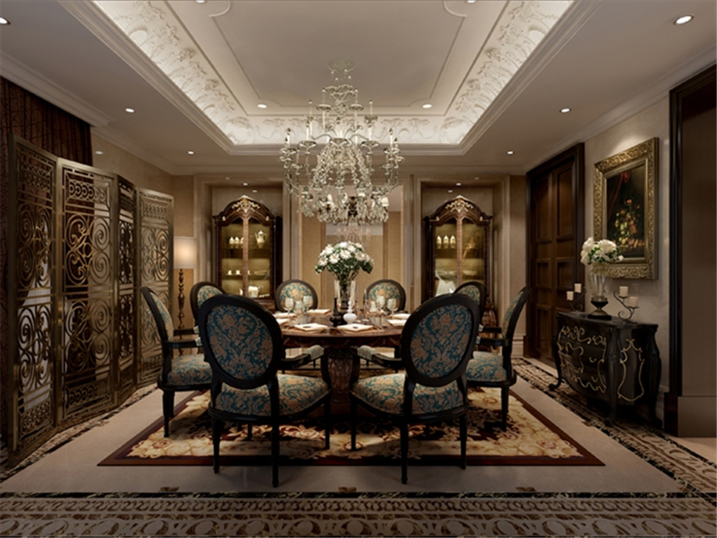 欧式家装餐厅3d模型模板下载(图片编号:12643326)