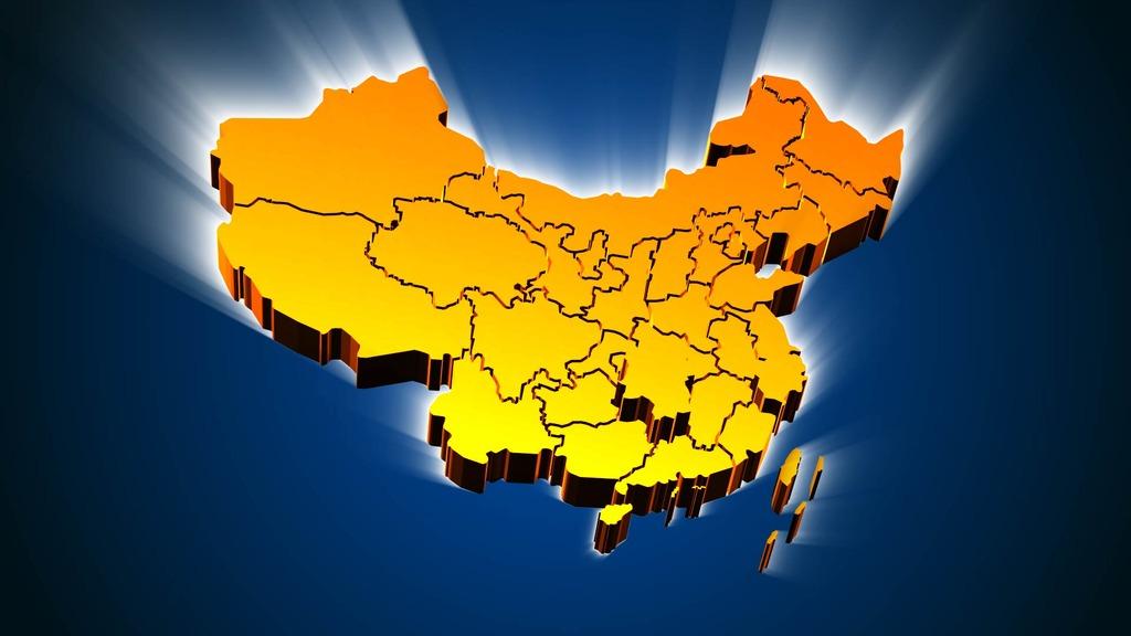 中国地图c4d省地图