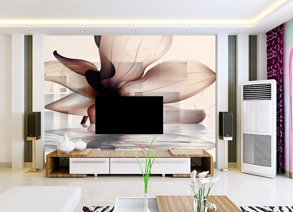 3d电视背景墙高清图片下载(图片编号12649280)花卉