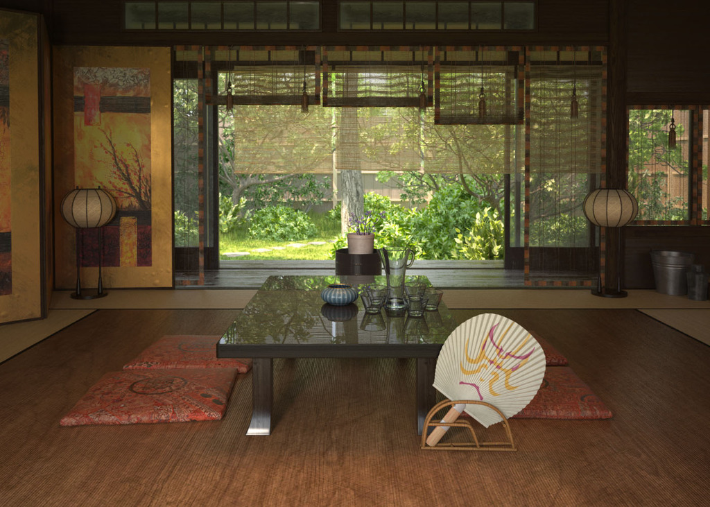 日本和式风室内3d模型