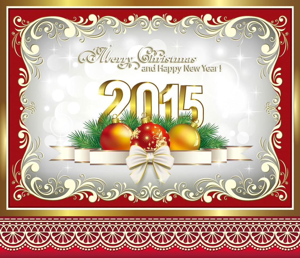 圣诞节新年商场超市促销活动吊旗插画海报1
