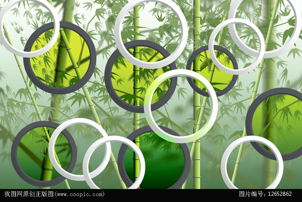 背景墙|装饰画 壁画 手绘壁画 > 竹子立体背景墙圆清新  下一张&nbsp