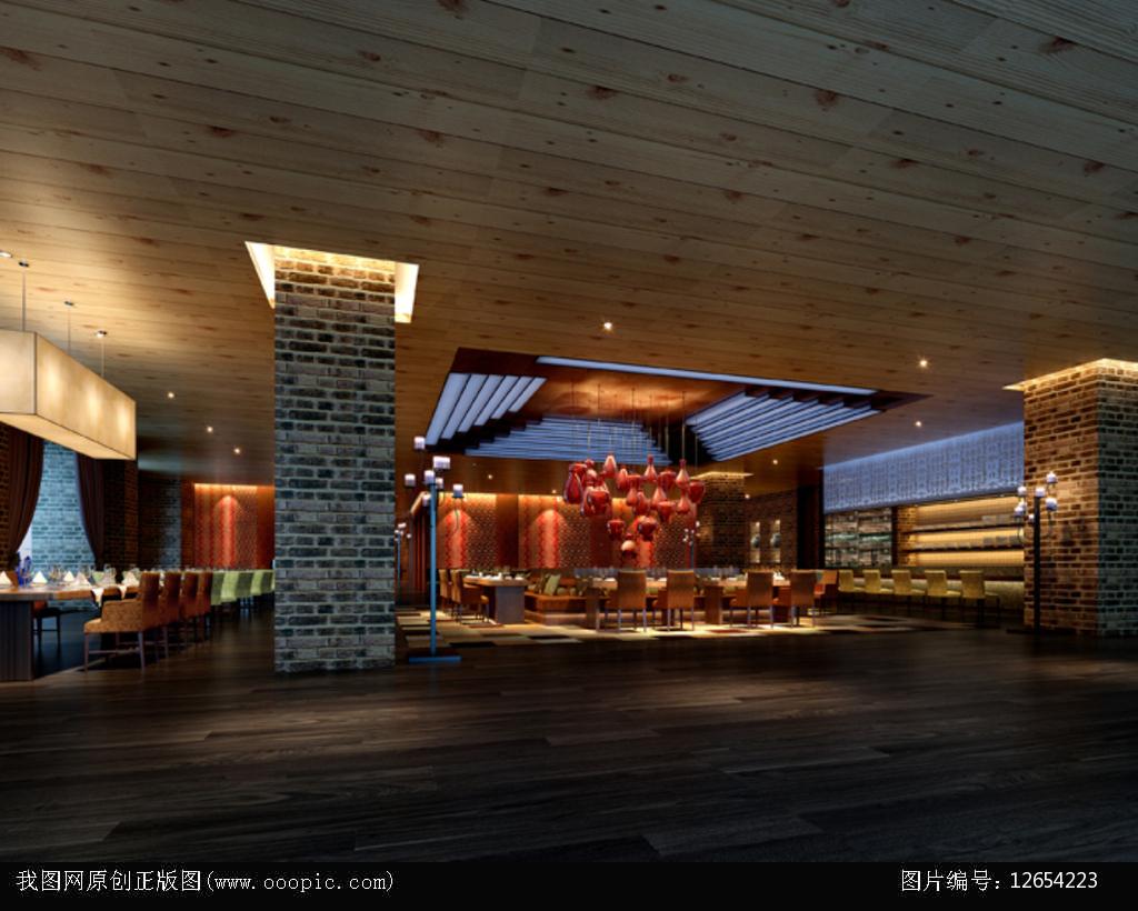 3dmax自助餐厅模型图片