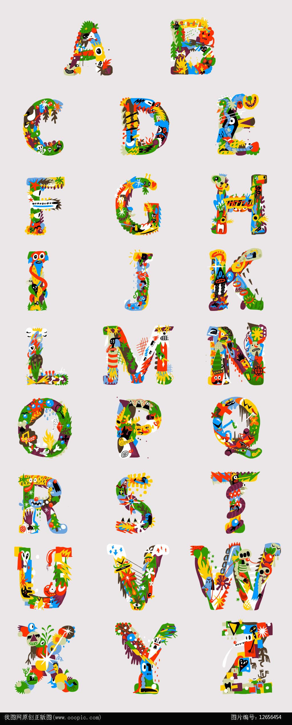 平面设计 海报设计 其他海报设计 > 卡通英文字母设计  下一张&图片