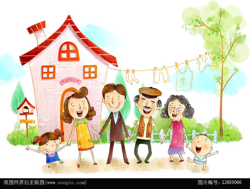 幸福一家人 温馨家庭图片