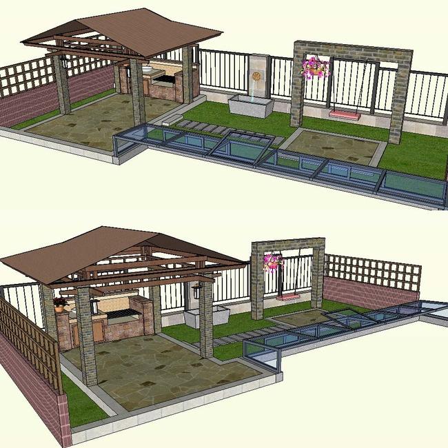 草图大师庭院景观模型模板下载(图片编号:12659340)