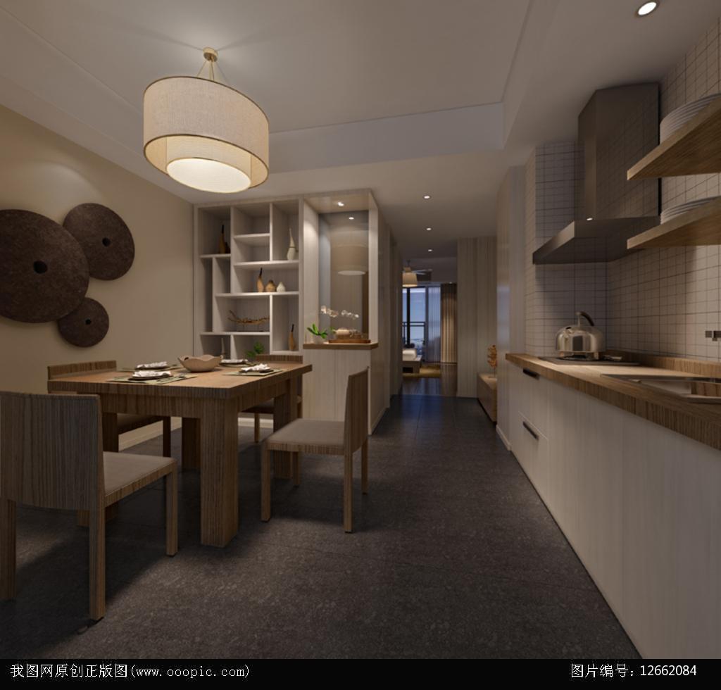 3dmax现代餐厅模型图片下载图片