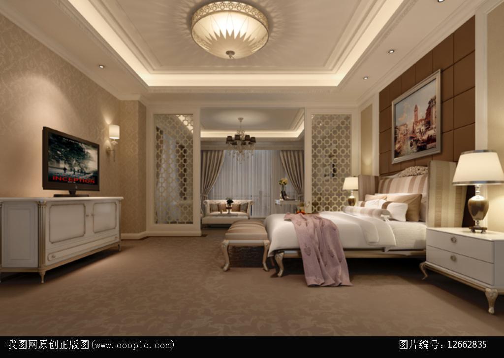 3dmax欧式卧室模型图片