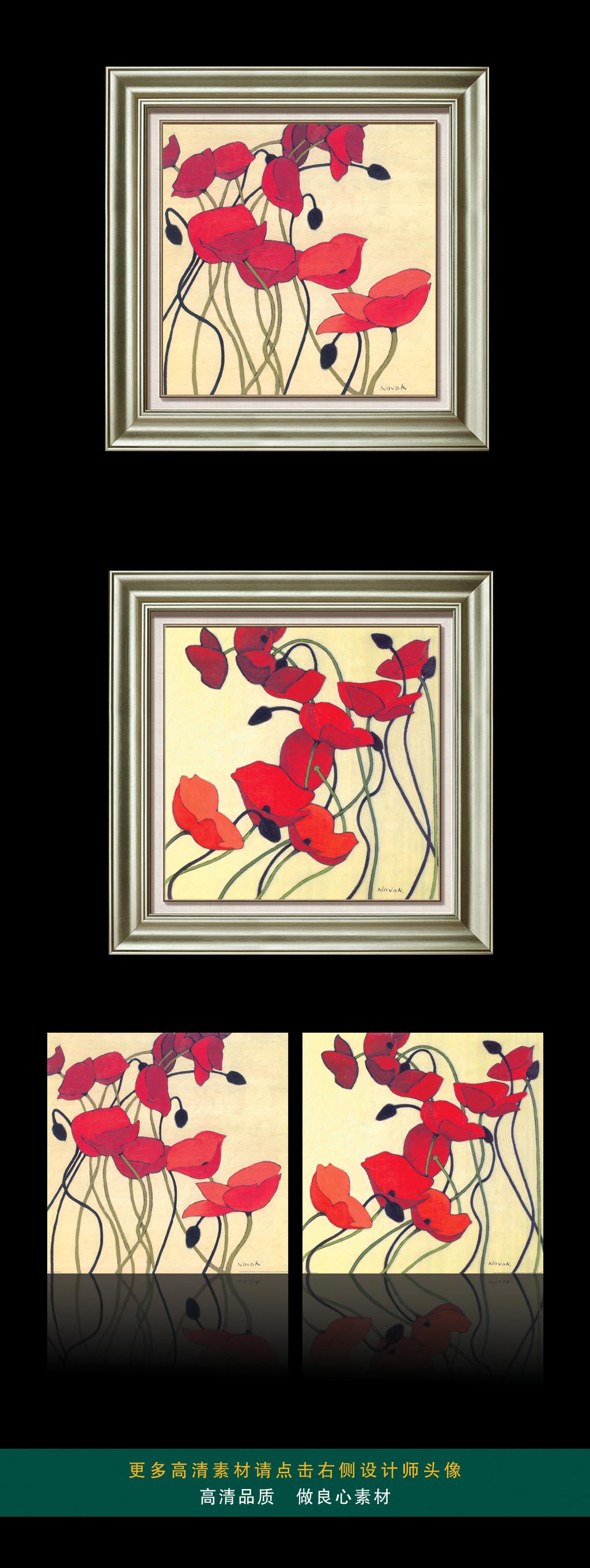 我图网提供精品流行红色罂粟复古装饰画素材下载,作品模板源文件可以编辑替换,设计作品简介: 红色罂粟复古装饰画 位图, CMYK格式高清大图,使用软件为 Photoshop CS(.tif不分层) 高清画芯素材源文件 红色植物花卉