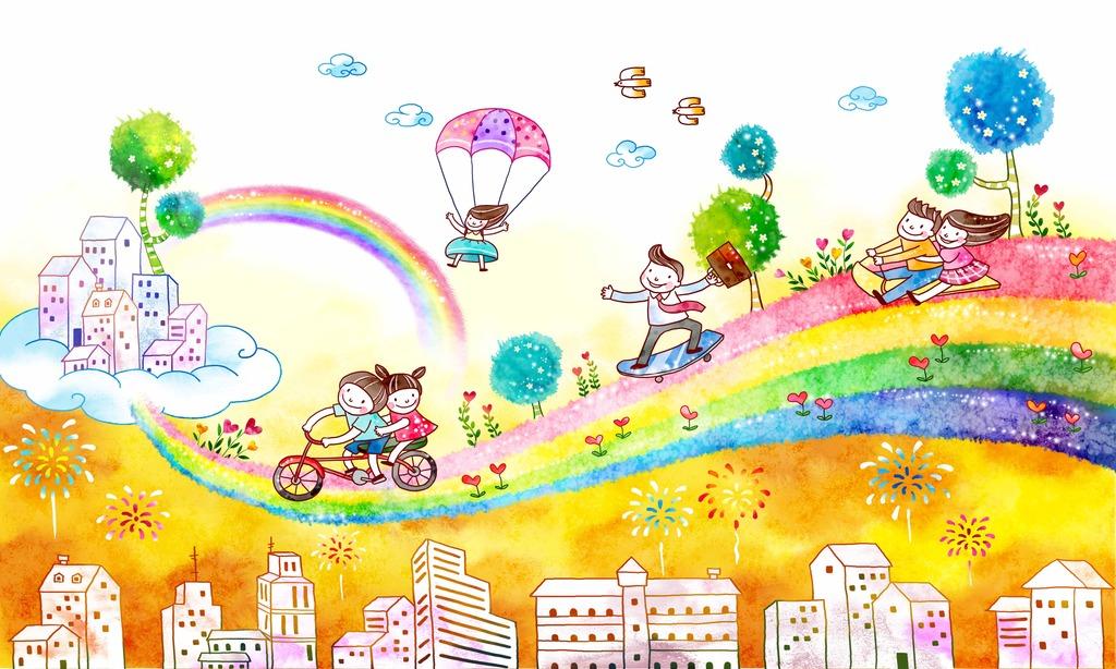 环保卡通儿童画