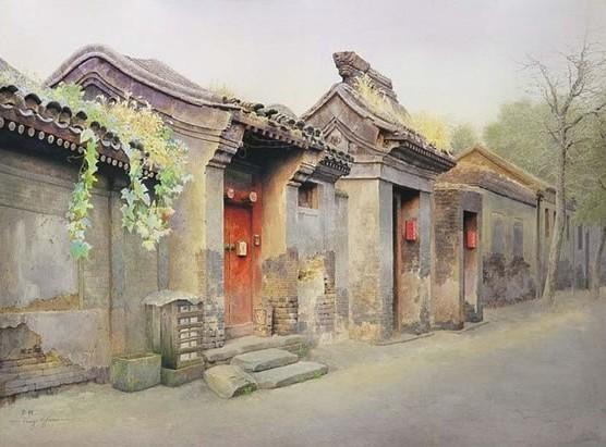 背景墙|装饰画 壁画 手绘壁画 > 油画国画装饰画老北京  下一张