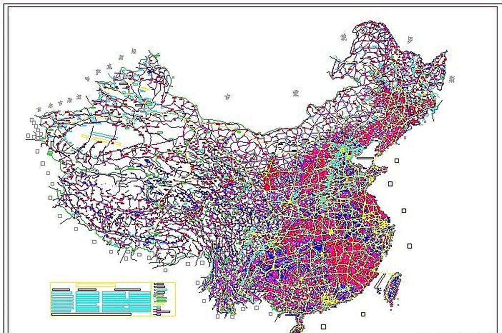 中国地图cad完整版下载